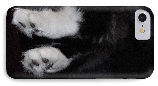 On Little Cat Feet Phone Case by Marilyn Wilson