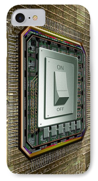 On Off Switch On Circuits Phone Case by Mike Agliolo