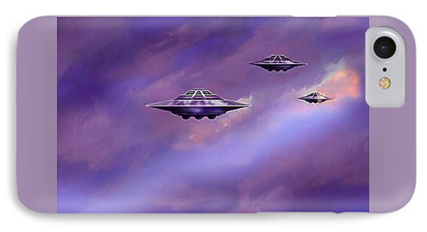 IPhone Case featuring the painting Sky  Patrol by Hartmut Jager