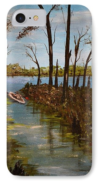 On The Bayou IPhone Case by Debbie Baker