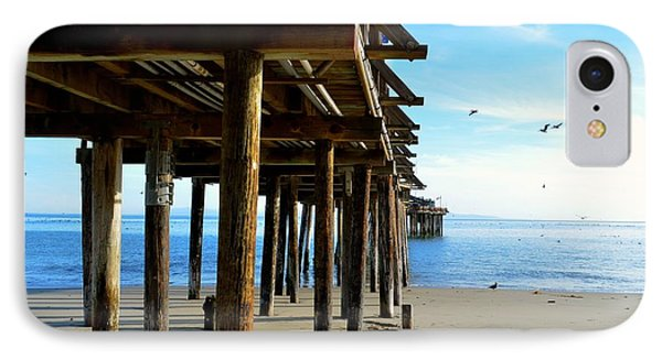 On The Beach In Capitola IPhone Case by Alex King