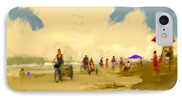 On The Beach IPhone Case by Ted Azriel