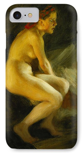 On The Bed Pa Sangkanten Phone Case by Anders Leonard Zorn
