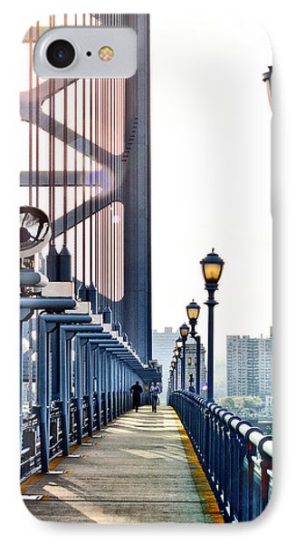 On The Ben Franklin Bridge Phone Case by Bill Cannon
