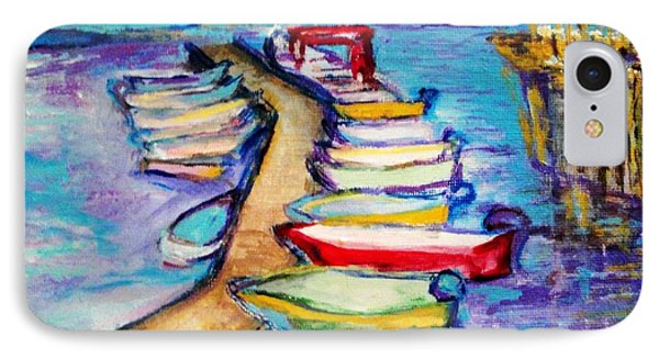 IPhone Case featuring the painting On The Boardwalk by Helena Bebirian