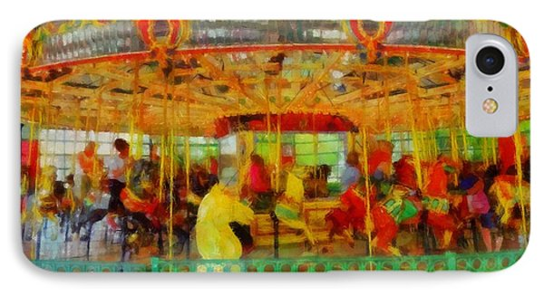 On The Carousel IPhone Case by Dan Sproul