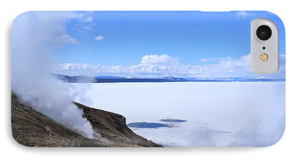 IPhone Case featuring the photograph On The Edge Of Lake Yellowstone by Michele Myers
