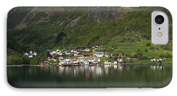 On The Edge Of The Fjord IPhone Case by Anne Gilbert