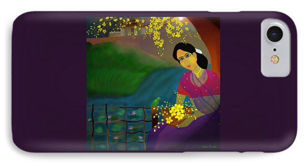IPhone Case featuring the digital art On The Eve Of Golden Shower Festival by Latha Gokuldas Panicker
