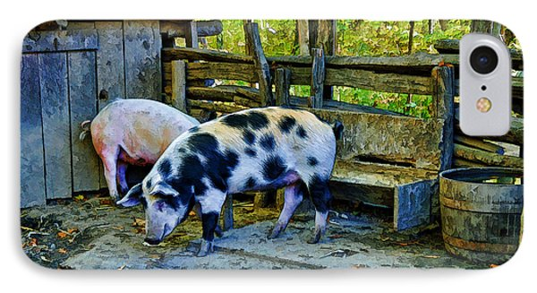 On The Farm IPhone Case by Kenny Francis