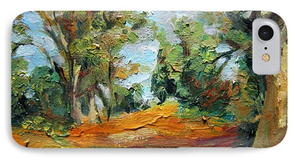 IPhone Case featuring the painting On The Forest by Jieming Wang