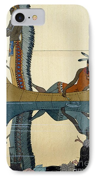On The Missouri IPhone Case by Georges Barbier