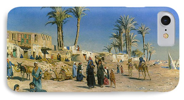 On The Outskirts Of Cairo IPhone Case by Peder Mork Monsted