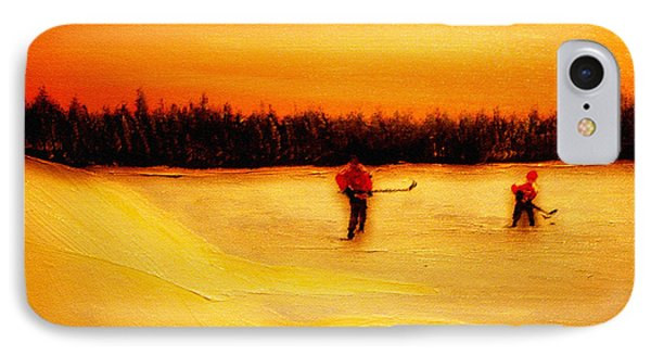 On The Pond With Dad Phone Case by Desmond Raymond
