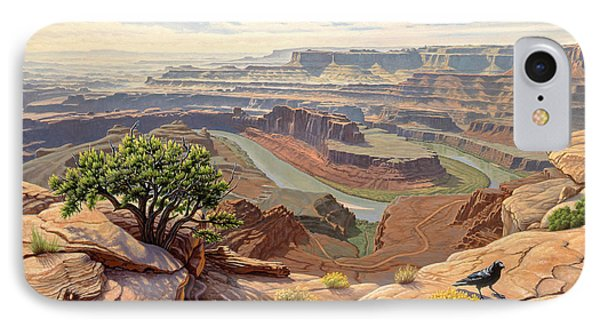 On The Rim-dead Horse Point IPhone Case by Paul Krapf