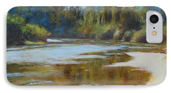 On The River Phone Case by Nancy Stutes