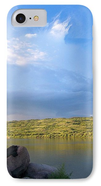 On The River With Garry IPhone Case by Ellery Russell