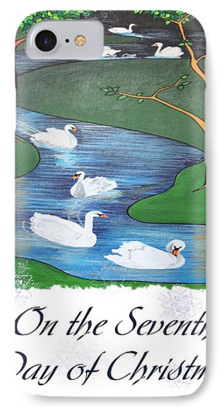 On The Seventh Day Of Christmas IPhone Case by Tracey Harrington-Simpson