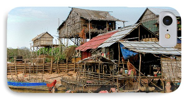 On The Shores Of Tonle Sap Phone Case by Douglas J Fisher
