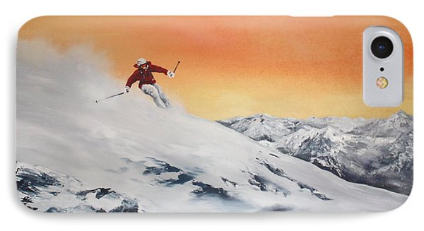 On The Slopes IPhone Case by Jean Walker