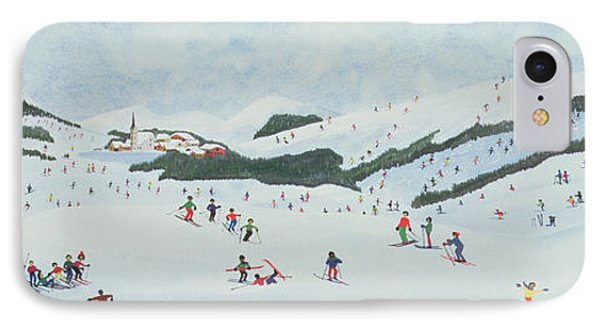 On The Slopes Phone Case by Judy Joel