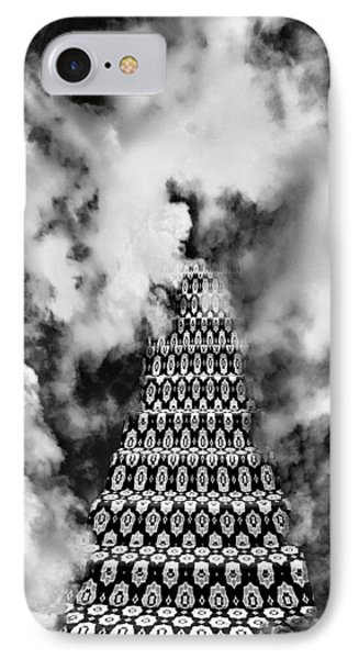On The Stairway To Heaven Bw Palm Springs Phone Case by William Dey