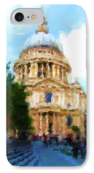 On The Steps Of Saint Pauls IPhone Case by Jenny Armitage