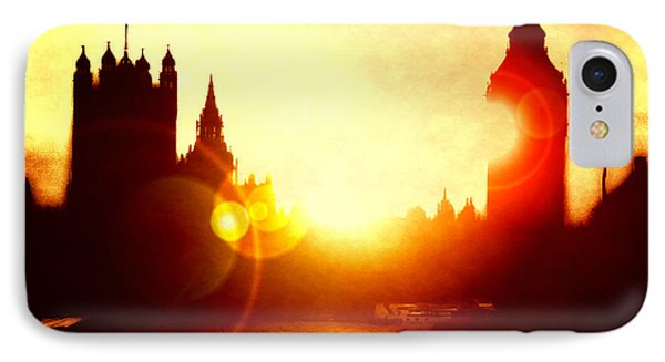 IPhone Case featuring the digital art Big Ben On The Thames by Fine Art By Andrew David
