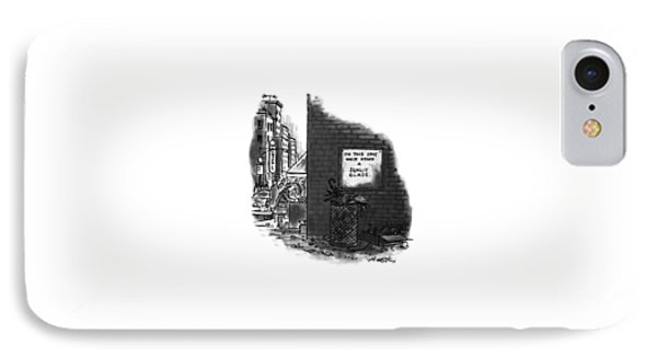 'on This Spot Once Stood A Sunlit Glade.' IPhone Case