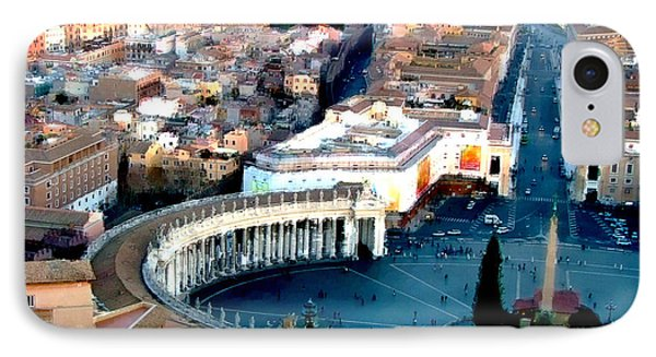 IPhone Case featuring the digital art On Top Of Vatican 1 by Brian Reaves