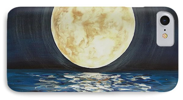 IPhone Case featuring the painting Once In A Very Blue Moon by Cindy Micklos