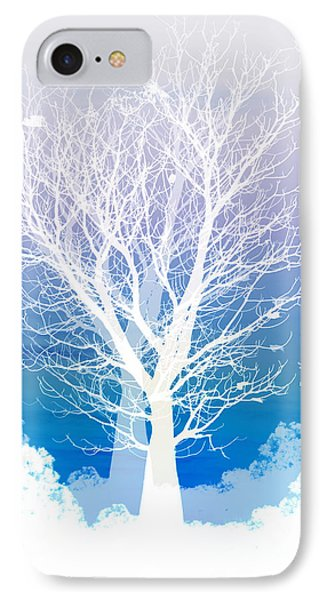 Tree iPhone 7 Case - Once Upon A Moon Lit Night... by Holly Kempe