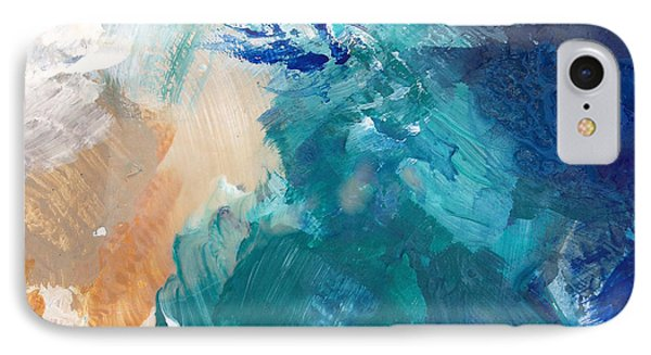On A Summer Breeze- Contemporary Abstract Art IPhone Case by Linda Woods