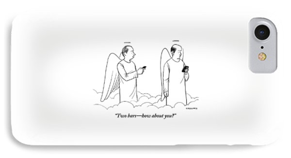 One Angel Speaking With Another IPhone Case by Alex Gregory