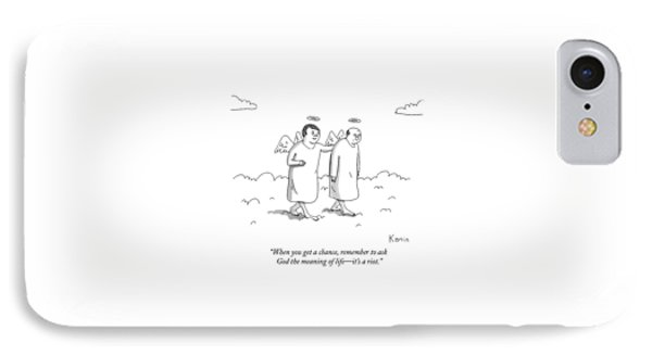 One Angel Speaks To Another In Heaven IPhone Case by Zachary Kanin