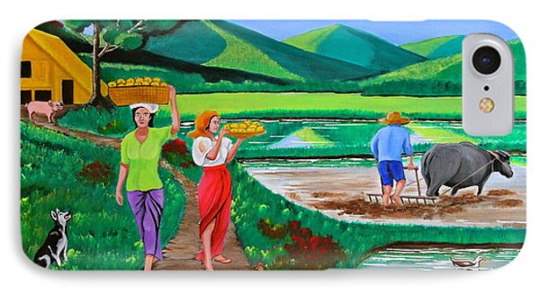 One Beautiful Morning In The Farm Phone Case by Cyril Maza