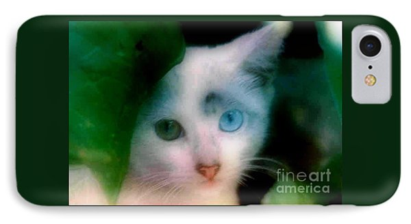 IPhone Case featuring the photograph One Blue One Green  by Michael Hoard