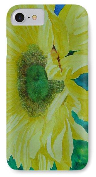 One Bright Sunflower Colorful Original Art Floral Flowers Artist K. Joann Russell Decor Art  IPhone Case