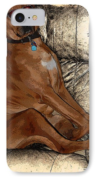 One Cool Dog IPhone Case by Mim White