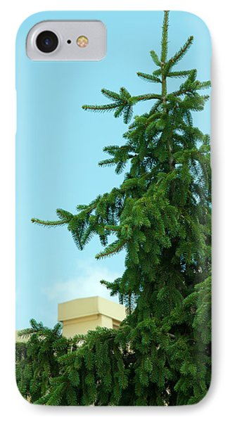 IPhone Case featuring the photograph One Cool Evergreen by Lena Wilhite