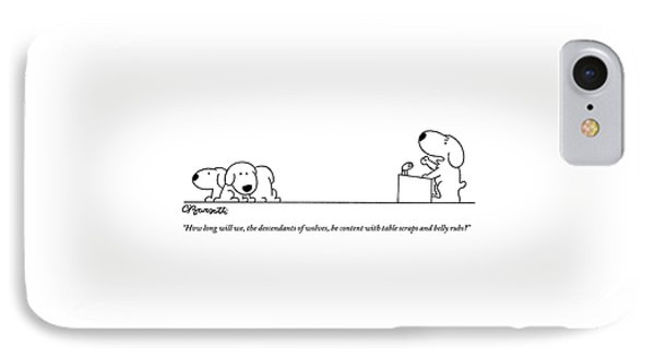 One Dog Speaks On A Podium To Several IPhone Case by Charles Barsotti