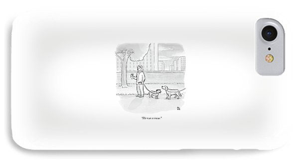 One Dog Talks To Another IPhone Case by Paul Noth