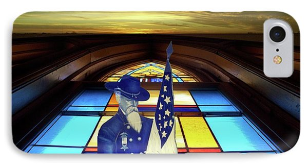 One Last Battle Union Soldier Stained Glass Window Digital Art Phone Case by Thomas Woolworth