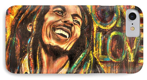 Bob Marley - One Love IPhone Case by Robyn Chance