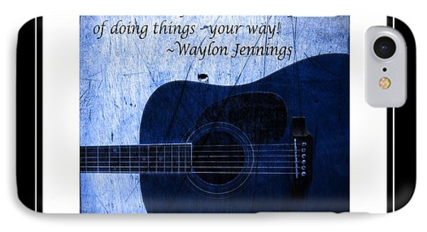One More Way - Waylon Jennings IPhone Case by Barbara Griffin