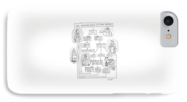 One Morning While Getting Dressed IPhone Case by Roz Chast