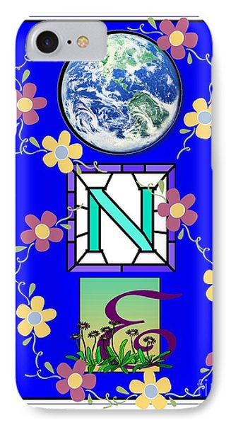 IPhone Case featuring the digital art Universal One-ness by Bobbee Rickard