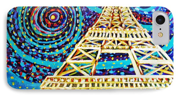 IPhone Case featuring the painting One Night In Paris by Cheryl Del Toro