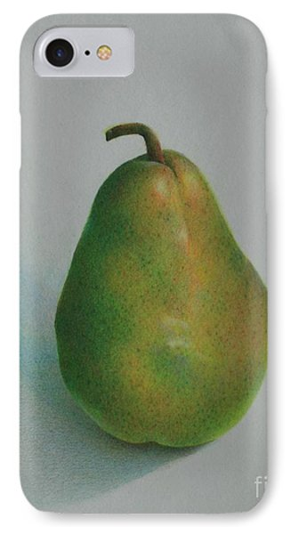 IPhone Case featuring the painting One Of A Pear by Pamela Clements