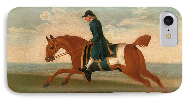 One Of Four Portraits Of Horses - A Chestnut Racehorse IPhone Case by Litz Collection